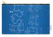 1973 Space Suit Elements Patent Artwork - Blueprint Carry-all Pouch by Nikki Marie Smith