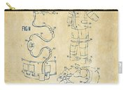 1973 Space Suit Elements Patent Artwork - Vintage Carry-all Pouch