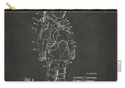 1973 Space Suit Patent Inventors Artwork - Gray Carry-all Pouch