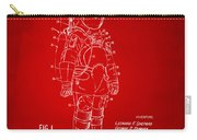 1973 Space Suit Patent Inventors Artwork - Red Carry-all Pouch