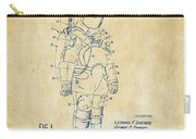 1973 Space Suit Patent Inventors Artwork - Vintage Carry-all Pouch by Nikki Marie Smith