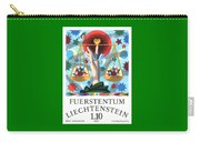 1977 Liechtenstein Libra Postage Stamp Carry-all Pouch