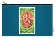1984 Mongolia God Ulan Yadam Mask Postage Stamp Carry-all Pouch
