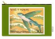 1984 Vietnam Flying Fish Postage Stamp Carry-all Pouch