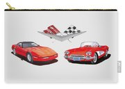 1986 And 1961 Corvettes Carry-all Pouch