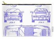 1990 Porsche 911 Patent Blueprint Carry-all Pouch