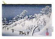 19th C. Snow On Asuka Hill Carry-all Pouch