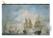 19th Century Naval Engagement In Home Waters Carry-all Pouch by Richard Willis