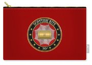 19th Degree - Grand Pontiff Jewel On Red Leather Carry-all Pouch