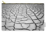 1a6832 Bw Mud Cracks In Death Valley Carry-all Pouch