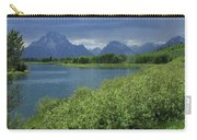1m9236 Mt. Moran And Sticky Geranium Carry-all Pouch