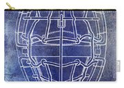 1887 Baseball Mask Patent Blue Carry-all Pouch