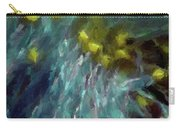 Abstract 92 Digital Oil Painting On Canvas Full Of Texture And Brig Carry-all Pouch