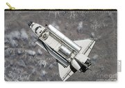 Aerial View Of Space Shuttle Discovery Carry-all Pouch by Stocktrek Images