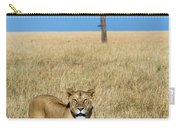 African Lioness Panthera Leo, Serengeti Carry-all Pouch
