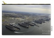 Aircraft Carriers In Port At Naval Carry-all Pouch by Stocktrek Images