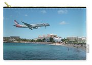 American Airlines Landing At St. Maarten Carry-all Pouch