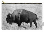 American Bison Buffalo Bull Feeding On Dry Fall Grass Carry-all Pouch