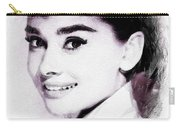 Audrey Hepburn, Vintage Actress Carry-all Pouch