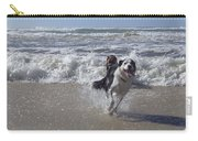 Australia - Border Collie Runs Out Of The Surf Carry-all Pouch