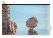 Balanced Rock In Arches National Park Near Moab  Utah At Sunset Carry-all Pouch
