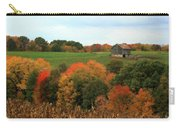 Barn On Autumn Hillside  A Seasonal Perspective Of A Quiet Farm Scene Carry-all Pouch
