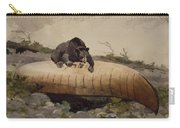 Bear And Canoe Carry-all Pouch