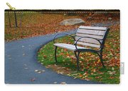 Bench On The Walk Carry-all Pouch by Rick Morgan