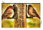 2 Bird's Eating  Carry-all Pouch
