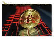 Bitcoin Coin L On Laptop Keyboard Carry-all Pouch