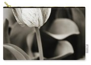 Black And White Tulip Carry-all Pouch