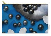 Black Pearls And Tiare Flowers Carry-all Pouch