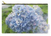 Blue Hydrangea At Rainy Garden In June, Japan Carry-all Pouch