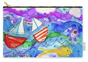 2 Boats And Yellow Fish Carry-all Pouch