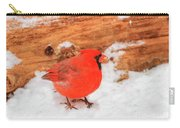 #2 Cardinal In Snow Carry-all Pouch
