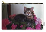 2 Cats In The Flowers Carry-all Pouch