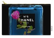 Chanel With Rose Carry-all Pouch