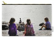 Children At The Pond 5 Carry-all Pouch