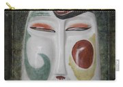 Chinese Porcelain Mask Grunge Carry-all Pouch