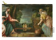 Christ And The Samaritan Woman At The Well Carry-all Pouch