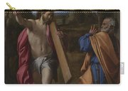 Christ Appearing To Saint Peter On The Appian Way Carry-all Pouch