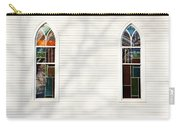 Church Windows With Tree Shadows Carry-all Pouch