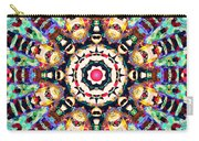 Colorful Concentric Abstract Carry-all Pouch