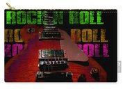 Colorful Music Rock N Roll Guitar Retro Distressed Carry-all Pouch