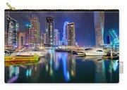 Colorful Night Dubai Marina Skyline, Dubai, United Arab Emirates Carry-all Pouch