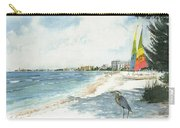 Blue Heron And Hobie Cats, Crescent Beach, Siesta Key Carry-all Pouch