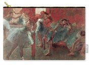 Dancers At Rehearsal Carry-all Pouch by Edgar Degas