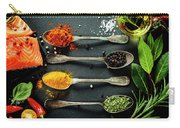 Delicious  Portion Of  Fresh Salmon Fillet  With Aromatic Herbs, Carry-all Pouch