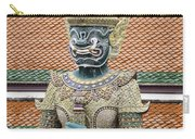 Detail From A Buddhist Temple In Bangkok Thailand Carry-all Pouch