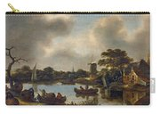 Dutch Landscape With Fishers Carry-all Pouch